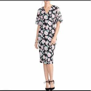 3/4 sleeve, black, floral, (L) Rachel Roy dress